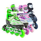 LED Roller Blades Kids Adjustable Inline Speed Skates Girls Size 12-2 US