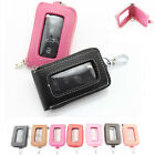 car remote pouch - Men Women Leather Car Key Chain Ring Fob Remote Case Holder Wallet Purse Pouch