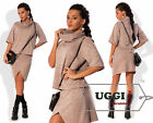 Beautiful Woman Skirt Suit Angora Short Sleeve Casual