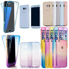 360° Full Protective Soft TPU Silicone Case Cover Skin Back Front Colorful Clear