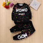 Boys Clothing Sets Colorful Letter Camouflage Outfits Sports Suit Plus Velent