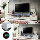 TV Floor Stand LED Gloss Cabinet Standing Drawers Lowboard Unit Furniture White