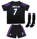 Real Madrid Ronaldo #7 Away Third Black Kids Soccer Jersey & Shorts Youth Sizes