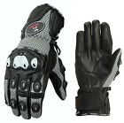 ISLERO All Weatger Leather Motorbike Motorcycle Gloves Carbon Fiber GEL Knuckle