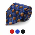 Plaid Square Paisley Pattern Poly Woven Necktie (MPW5736)
