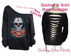 Sugar Skull Day of the Dead Black Sweatshirt S M L XL Plus Size 1X 2X 3X 4X 5X