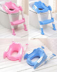 Baby Children Kids Training Potty Seat With Ladder Cover Toilet Folding Chair us