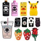3D Cartoon Back Phone Case Cover Skin for iPhone 4 5 5s 5c SE 6 6s 7 Plus Gift