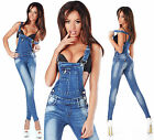 Sexy New Womens Wash Light Blue Denim Jeans Jumpsuit Overall Y 703