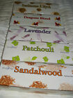Stamford Incense Sticks   6 Boxes of 20sticks  Patchouli  Lavender Plus others