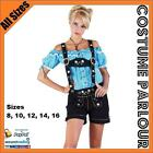 Ladies Authentic Floral German Leather Lederhosen Oktoberfest Costume