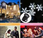 Xmas Moving Snowflake Laser Projector Light Stage House Garden Landscape Outdoor