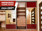 Sliding Wardrobe Doors DIY High Gloss Mirror Colour Panels (650mm x 2000mm)