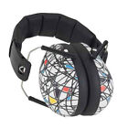 BANZ NEW White Ear Muffs Kid's Defenders Squiggle Age 2-10 BNWT