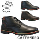 MENS CAFF@NERO LEATHER DESERT CHELSEA DEALER CHUKKA ANKLE WORK BOOTS SHOES SIZE