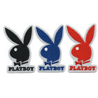 BUNNY RABBIT PLAYBOY NEW IRON ON PATCH EMBROIDERED SEW ON BLACK RED BLUE