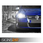 VOLKSWAGEN GOLF R32 BLUE (AA450) CAR POSTER - Photo Poster Print Art * All Sizes