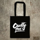 CRUELTY FREE tote bag shopper protest animal rights vegan against Animal testing