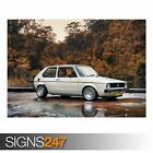 VW GOLF MK1 (AA886) CLASSIC CAR POSTER - Photo Picture Poster Print Art A0 to A4