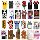 Newest 3D Cute Animal Cartoon Soft Silicone Case Cover Back Skin For iPhone Gift