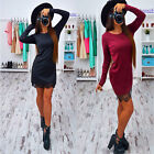 Autumn Lace Patchwork Women Dress O-neck Long Sleeve Dresses Casual Bodycon