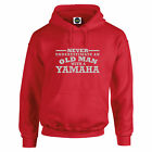 Yamaha Never Underestimate An Old Man With an HOODIE Silver text S to 5XL