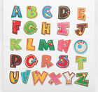 Colorful A-Z English alphabets Letters Iron On Embroidered Applique Patch