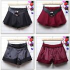 Under Safety Women Girl Stretch Leather Waist Lace Organza Tiered Bubble Skirt