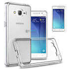 Shockproof Clear Crystal TPU Gel Case + Tempered Glass Screen For Samsung Galaxy