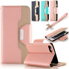 Luxury Genuine Leather Flip Wallet Phone Case Cover for iPhone 7 7 Plus 6s