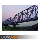 RAILWAY BRIDGE (AB043) TRAIN POSTER - Photo Picture Poster Print Art A0 to A4