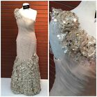 JOVANI COUTURE 5135A ONE SHOULDER  MARMAID ROCHED GOWN $799 SZ4,6,8,10, 12,14