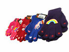 GIRLS KIDS THERMAL MAGIC GRIPPER GLOVES VARIOUS DESIGNS XMAS WINTER ONE SIZE NEW