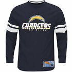 Majestic San Diego Chargers Navy Big & Tall Power Hit Long Sleeve T-Shirt