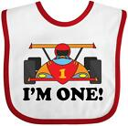 Inktastic Race Car 1st Birthday Baby Bib Babys Im One 1 Year Old Turning First