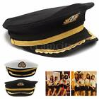 Adult Yacht Boat Captain Navy Sailor Cap Hat Fancy Dress Costume Party Accessory
