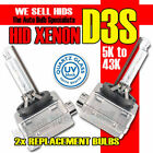 D3S BI XENON,GAS DISCHARGE BULBS QUARTZ GLASS PAIR 43k 5k 6k 8k 10k 12k UK STOCK