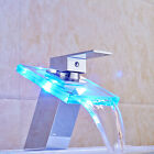 Bathroom LED Basin Sink Faucet Chrome Brass Vanity Sink Mixer Deck Mounted Tap