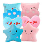 New Plush Star Heart Paws Led Light Colorful Luminous Pillow Toy Kids Girl Gift