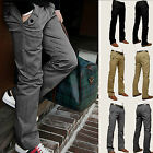 Chic Men Casual Chinos Cotton Trousers Slim Fit Straight Leg Pants Size 29-36