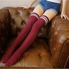 Women Knit Socks Over Knee Lady Wool Warm Thigh High Stockings Pantyhose Tights