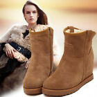 fashion natural fox fur cow leather lady high snow boots for women winter boots
