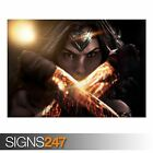 WONDER WOMAN (AB056) MOVIE POSTER - Photo Picture Poster Print Art A0 to A4