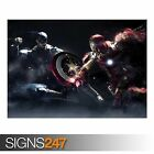 CAPTAIN AMERICA VS IRON MAN (AB082) MOVIE POSTER - Poster Print Art A0 A1 A2 A3