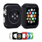 Soft TPU +Aluminum Armor Rugged Back Case Cover Shel For Apple Watch iWatch 42mm