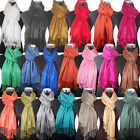 Kyпить Fashion Women's Silk Style Solid Long Pashmina Shawl Wrap Scarf cashmere  на еВаy.соm