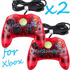 2 LOT NEW RED Controller Control Pad for Original Microsoft XBOX X BOX System MG