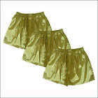 Thai Silk Boxers 3 pcs Mens Underwear Boxer Shorts Sleepwear Gold - M L XL 2XL