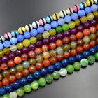 "10mm Faceted Agate Round Gemstone Beads 15"" Pick Color"
