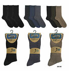 MENS MULTIPACK 3 PAIRS COTTON RICH SOCKS WITH ELASTICATED TOP UK 7-11 NEW